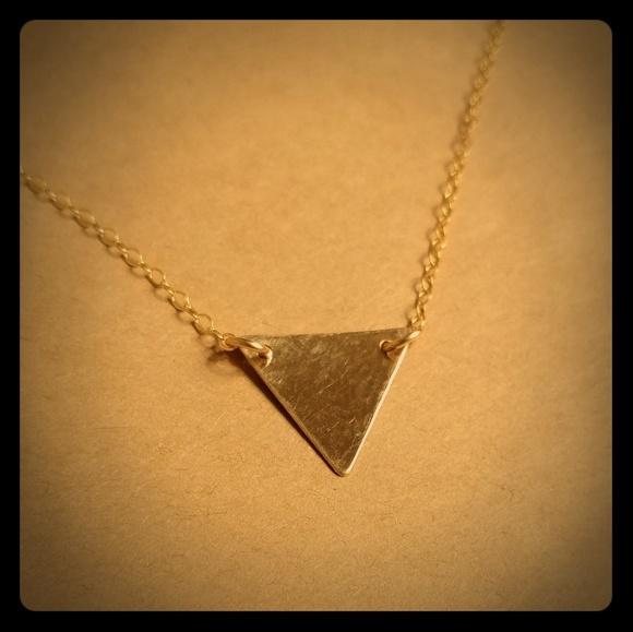 85c41c474cb Sosie designs gold triangle necklace